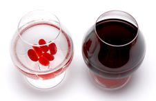 Free True And Fake Red Wine Stock Photos - 2128603
