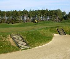 Steps In A Golf Bunker Royalty Free Stock Photos