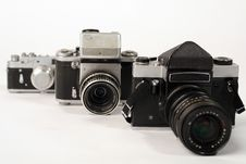Free Three Photo Cameras Royalty Free Stock Photos - 2129638