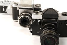 Free Three Photo Cameras Royalty Free Stock Image - 2129646