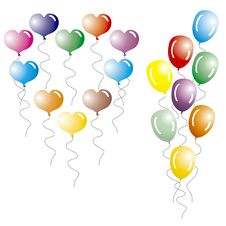 Free Multi-coloured Balloons. Royalty Free Stock Photos - 2129658