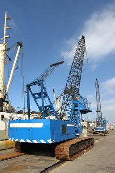 Free Harbor Cranes Stock Image - 2129931