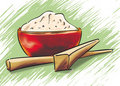 Free Rice Bowl And Chopsticks Royalty Free Stock Photos - 21200318