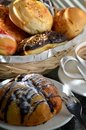 Free Bread And Coffee On A Breakfast Table Stock Photography - 21200702