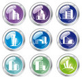 Free Shiny House Icon Collection Royalty Free Stock Photography - 21202147