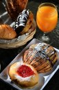 Free Bread And Orange Juice As Breakfast Menu Stock Image - 21203101