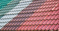 Free Colorful Tiled Roof Stock Photography - 21205902