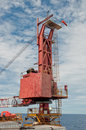 Free Crane On A Drilling Unit Stock Images - 21209324