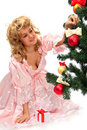 Free Pretty Girl Stand Near A Christmas Tree Stock Photos - 21209763