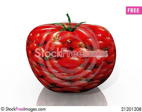 Free The Tomato Royalty Free Stock Photos - 21201208