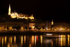 Free Night View Of Panorama Budapest, Hungary Royalty Free Stock Photos - 21200958