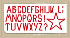 Free Folded Ribbon Alphabet With Background Royalty Free Stock Photos - 21201238