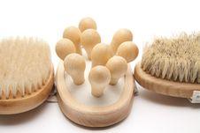 Free Massage Brushes Royalty Free Stock Photo - 21202085
