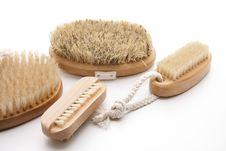 Free Massage Brushes With Bristles Stock Photo - 21202150