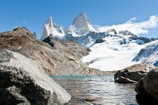 Free Fitz Roy Mountain And A Lake 03 Stock Photos - 21202263
