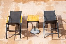 Free Swimming Pool Rest Chairs Stock Photos - 21202493
