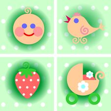 Free Set Of Children S Icons Royalty Free Stock Photo - 21202505