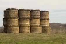 Free Golden Hay Bales Stock Images - 21203074