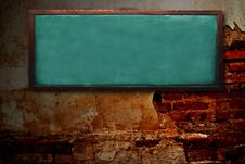 Free Wood Chalk Board On Grunge Wall Royalty Free Stock Image - 21203076