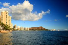 Free Waikiki And Diamond Head Royalty Free Stock Photography - 21203487