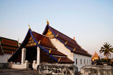 Free Historic Buddhist Church In Thailand Royalty Free Stock Image - 21203796