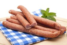 Free Mead Sausages And Mint Stock Image - 21204081