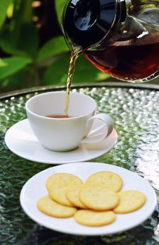Tea Break With Biscuits Stock Images