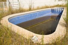 Free Neglected Swimming Pool Stock Photography - 21204272