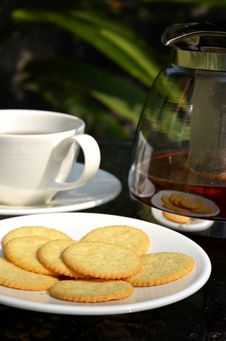 Tea Break With Biscuits Royalty Free Stock Photo