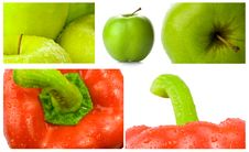 Free Apples And Bell Peppers Set Stock Photography - 21204692