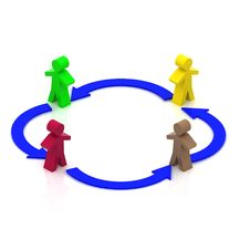 Free Teamwork Circle Royalty Free Stock Photo - 21204965