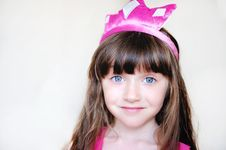 Free Beauty Little Princess With Pink Tiara Stock Photo - 21206250