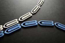 Free Blue And Whites Paper Clips Stock Photography - 21206522