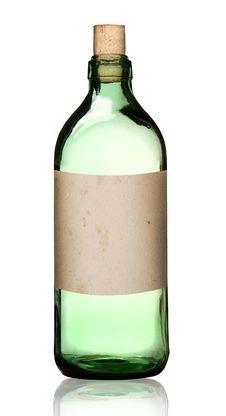 Free Old Fashioned Drug Bottle, Isolated. Stock Photos - 21206593