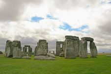 Stonehenge Under A Gloomy Sky, England Royalty Free Stock Photography