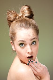 Surprised Blond Woman Royalty Free Stock Image