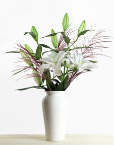 Free White Lily Bouquet Stock Photography - 21207912