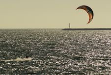 Free Kite Surfer Stock Images - 21207934