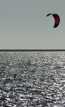 Free Kite Surfer Royalty Free Stock Photo - 21207945
