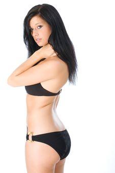 Black Swimsuit Stock Photography
