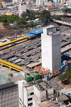 Free Bus Terminal In Sao Paulo Stock Photos - 21208583