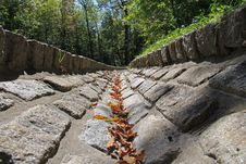 Free V Shaped Stone Gutter In A Park Stock Image - 21208991