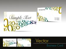 Free Colorful Circle Pattern Business Card Stock Photos - 21209053