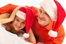 Free Lovely Christmas Couple Royalty Free Stock Photography - 21209757
