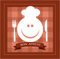 Free Happy Smiley Face With Fork And Knife Royalty Free Stock Image - 21211646