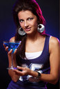 Free Young And Beautiful Woman In The Nightclub Royalty Free Stock Photography - 21213407
