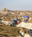Free Low Flying Balloons Ravine Uchisar Turkey Royalty Free Stock Image - 21214256