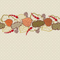 Free Autumn Vector Background With Leaves And Berries Royalty Free Stock Image - 21218486
