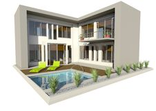 Free Modern Double Story House Stock Photos - 21210163