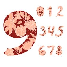 Free Decorative Numbers Royalty Free Stock Image - 21210296